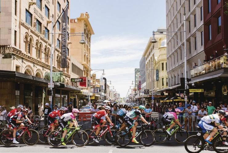 Santos Tour Down Under, Adelaide Street Circuit, Adélaïde, SA © South Australian Tourism Commission
