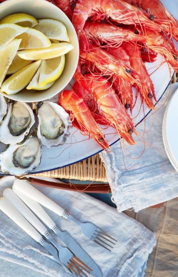 Plateau de poissons et fruits de mer, NSW © Destination NSW
