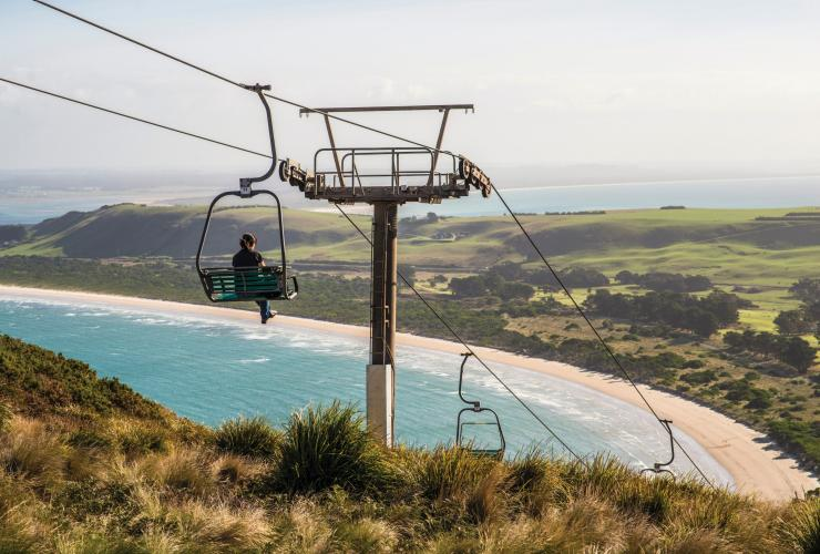 The Nut Chairlift, Stanley, TAS. © Tourism Tasmania