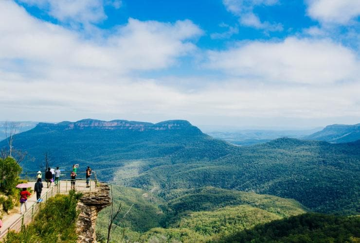 Promontoire des Blue Mountains, Blue Mountains, Nouvelle-Galles du Sud © Tourism Australia