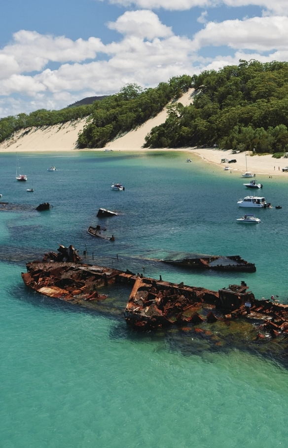 Bangkai Kapal Tangalooma, Moreton Island, QLD © Tourism and Events Queensland