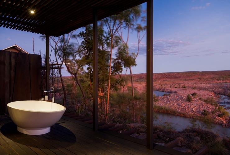 Cliffside retreat, El Questro Wilderness Park, WA © Tourism Western Australia