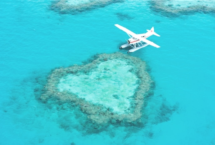 Air Whitsunday Seaplanes, Heart Reef, QLD. © Air Whitsunday Seaplanes