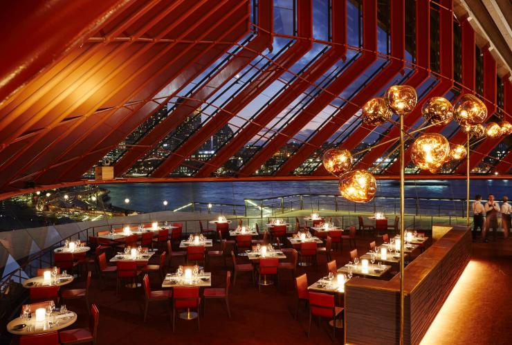 Bennelong Restaurant at the Sydney Opera House, Sydney, NSW © Bennelong Restaurant