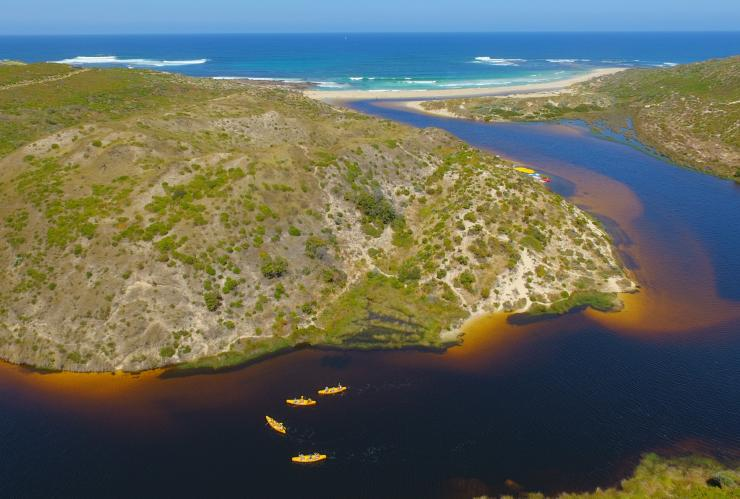 Canoeing with Bushtucker Tours, Margaret River, WA © Bushtucker Tours