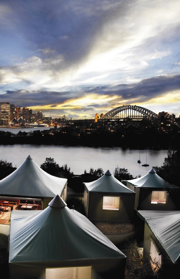 Roar and Snore glamping experience, Taronga Zoo, Sydney, NSW (c) Taronga Zoo