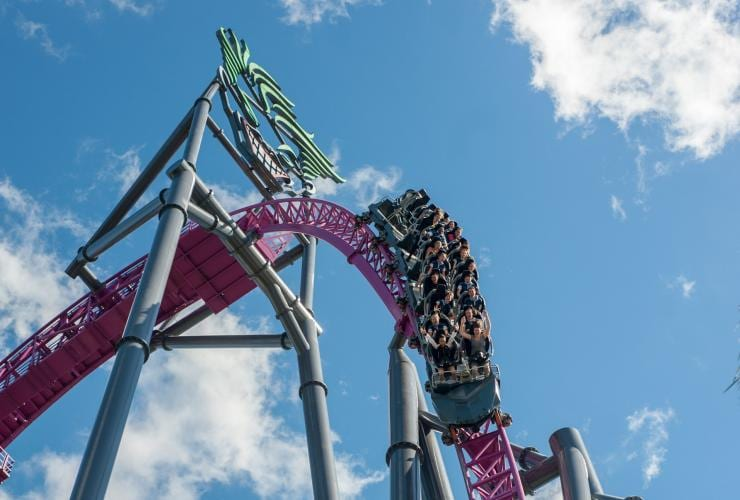 DC Hypercoaster at Movie World, Gold Coast, QLD © Tourism and Events Queensland