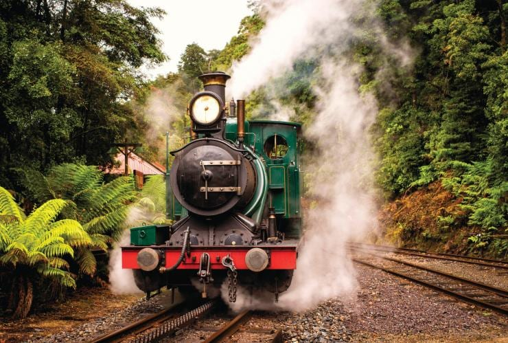 West Coast Wilderness Railway, Queenstown, TAS © Tourism Tasmania & Rob Burnett
