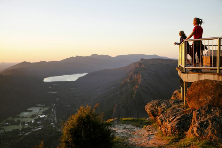 Boroka Lookout over Halls Gap, Grampians National Park, VIC © Visit Victoria