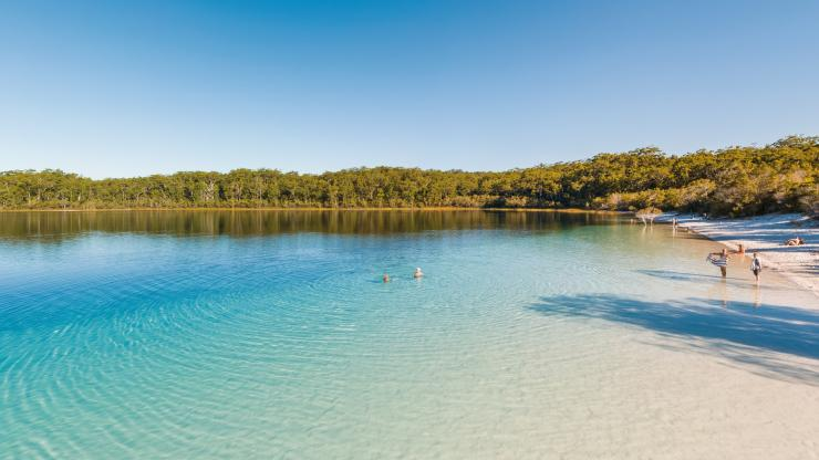 Lake Mackenzie, Fraser Island, QLD © Tourism and Events Queensland