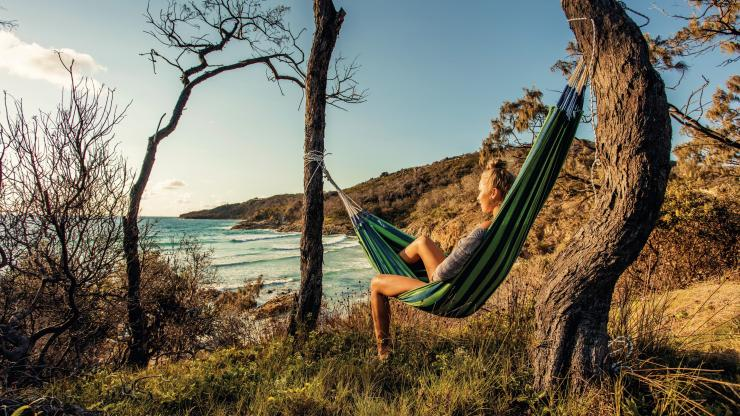 Hammock, Moreton Island, QLD © Tourism and Events Queensland