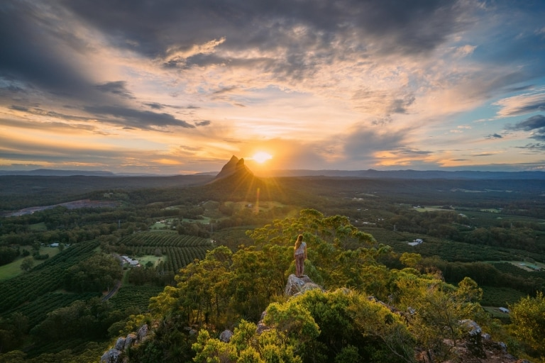 Glass House Mountains, Sunshine Coast, Queensland © Tourism and Events Queensland