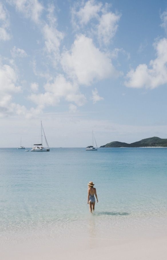Whitehaven Beach, Isole Whitsunday, Queensland © Tourism and Events Queensland