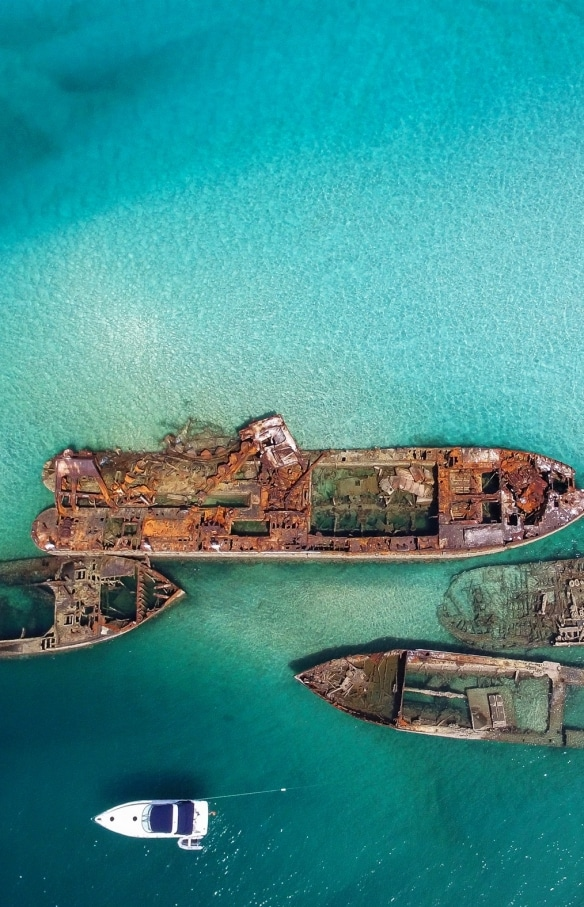 Tangalooma Wrecks, Moreton Island, Queensland © Scott Pass
