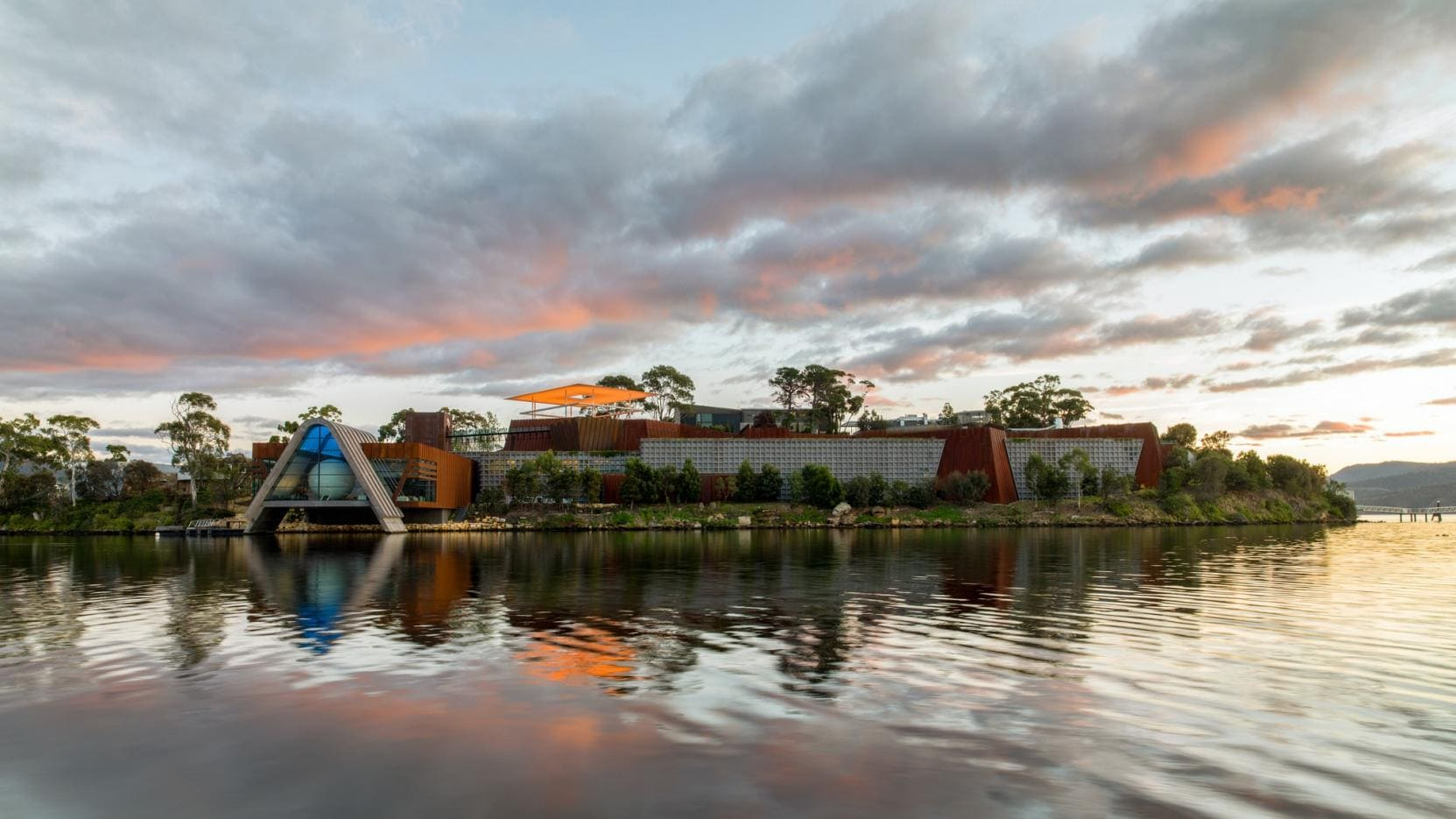 Mona (Museum of Old and New Art), River Derwent, Hobart, TAS © Museum of Old and New Art