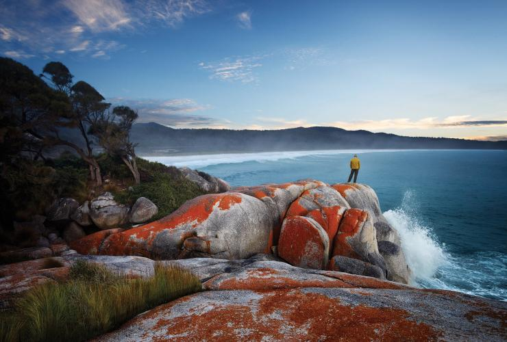 Binalong Bay, Bay of Fires, Tasmania© Tourism Tasmania / Stuart Crossett