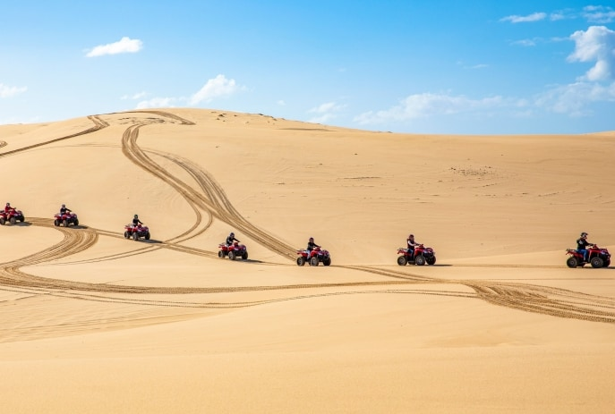 Avventure sulle dune di sabbia, Port Stephens, New South Wales © Destination NSW