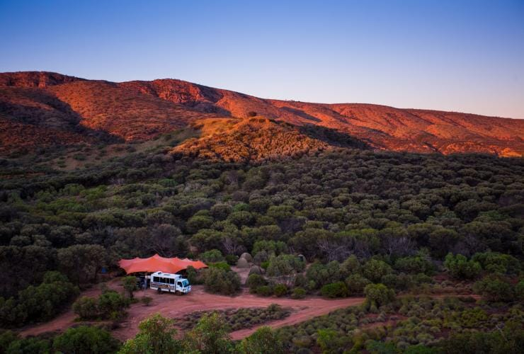 北領地(NT)西麥克唐奈爾山脈(West MacDonnell Ranges)World Expeditions提供的拉勒平塔路徑之旅(Larapinta Trail)©World Expeditions,澳洲精彩徒步之旅(Great Walks of Australia)