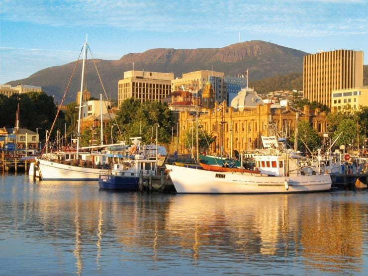 Hobart Waterfront, Hobart, TAS © Tourism Tasmania and  Robin Nyfeler