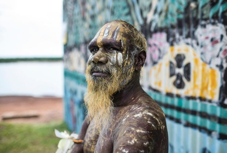 A proud Tiwi Islands local, Tiwi Islands, Darwin region, NT © Shaana McNaught