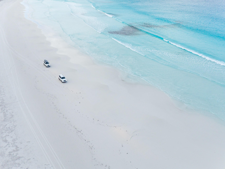 Aerial view of Lucky Bay, near Esperance, WA © Tourism Western Australia
