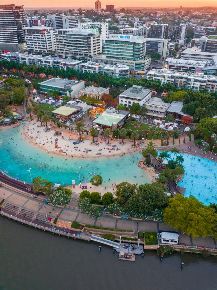 Streets Beach, South Bank, Brisbane, QLD © Richard Greenwood