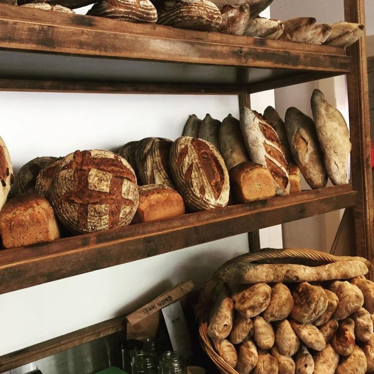 Loaves of freshly baked bread at Cygnet Woodfired Bakehouse in Cygnet © Cygnet Woodfired Bakehouse
